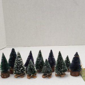 Other - Mini Christmas Tree Brush Snow Frost Decor Village